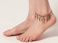 Wholesale New European Style Gold Plated Retro Punk Angle Wing Anklet Bracelet