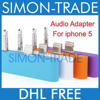 Wholesale Audio Adapter Converter Charger For Iphone Color PIN to Pin mm Audio Output Adapter Sync Charger For Iphone5 G Nano Newest