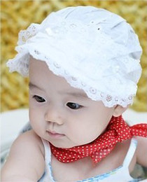 Wholesale Spring Lace Hats - 2013 new ultra US-South Korean version of the baby sun hat   lace cotton shade the princess lady fisherman basin hat