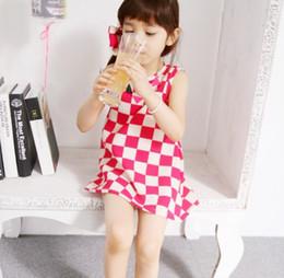 Wholesale Summer children dresses Korean color diamonds fair maiden girls vest dress baby skirt belt hair band colour size