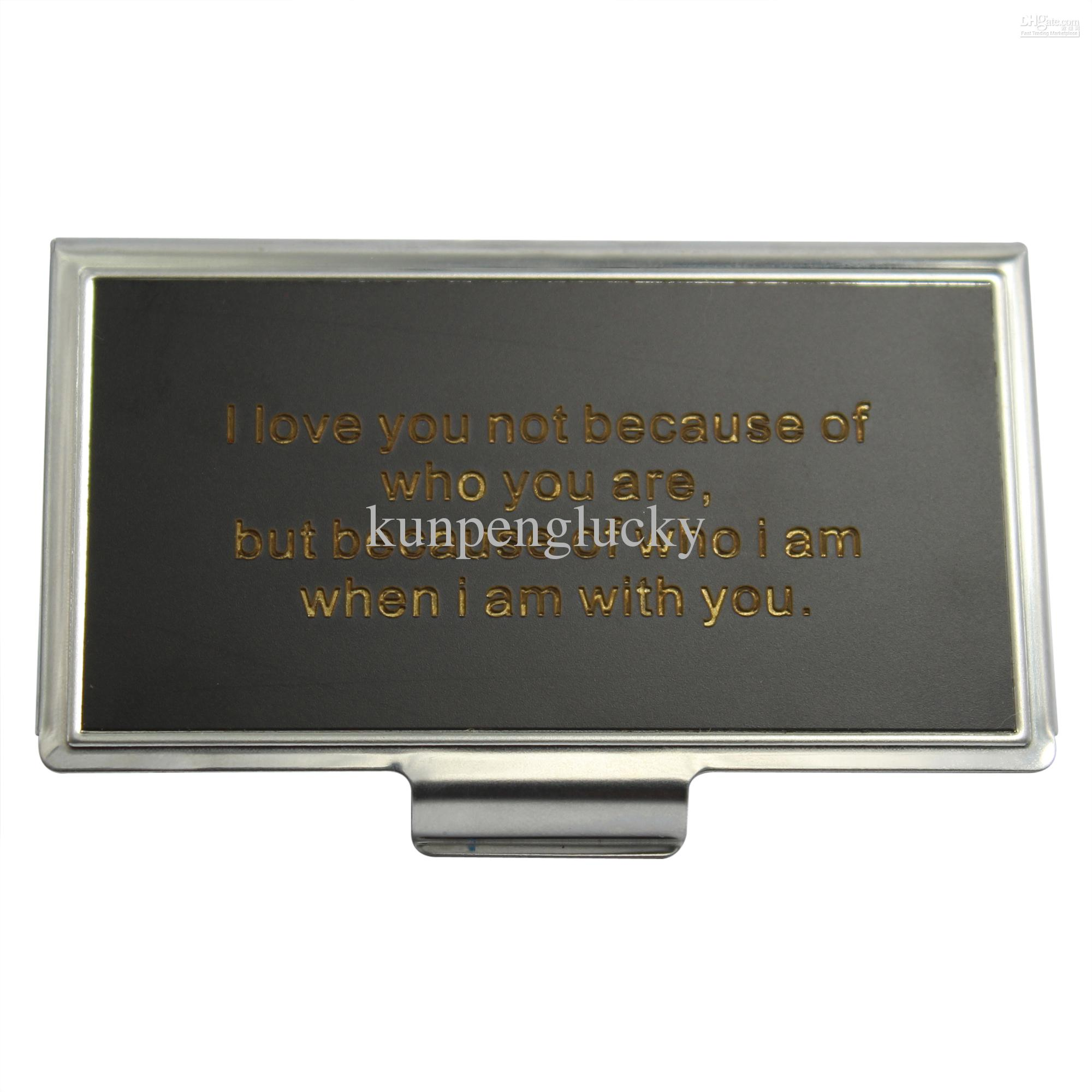 Gift Card Holder Card Holder Metal Black Card