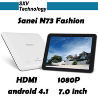 Wholesale USB G Modem New Arrival Fashion SANEI N73 quot Tablet PC Wifi RK2928 GHz GB GB Free DHL