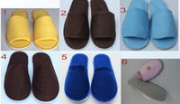 Wholesale Men women promotional slippers the indoor home soles cotton slippers shoes hotel babouche travel guesthouse shoe