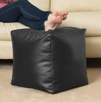 100% Polyester bean bag leather - PU LEATHER waterproof outdoor and indoor adults bean bag footstool beanbag sitting chair
