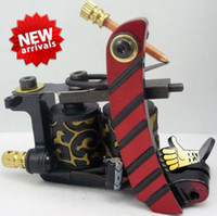 Wholesale 4pcs Tattoo Machine Gun Top Hand Made Tattoo Machine NA Red Tattoo Supplies