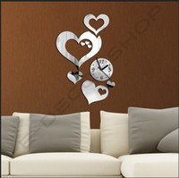 Wholesale New Fashion DIY Modern Decorative Mirror Wall Clock For Every Home amp Wall Decoration