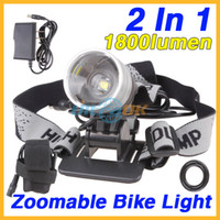 Wholesale 2 In Lumens Zoom CREE XML T6 LED Bicycle Bike Light Lamp Headlight Battery Pack