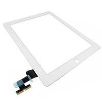Wholesale 50PCS X White Black Digitizer Touch Screen OEM Flex For iPad free DHL EMS