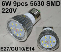 Wholesale O52 W SMD E27 GU10 E14 Led Light Bulb Lamp Spot Light Home Lighting V