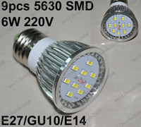Wholesale O52 Brand New W SMD E27 GU10 E14 Led Light Bulb Lamp Spot Light Home Lighting V