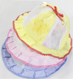 Wholesale Cotton fight network children s bucket hats baby sun hat baby hat baby sun hat bonnet