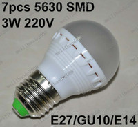 Wholesale O53 Brand New W Leds SMD E27 GU10 E14 Led Light Bulb Globe Lamp LM V