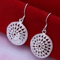 Wholesale Sterling Silver Earings circle Jewelry gift box bag E112 Brand New