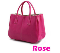 Wholesale women leather tote handbag fashion summer candy color shoulder bags