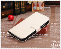 Wholesale For Samsung Galaxy S4 I9500 I9505 Luxury High Quality Leather Flip Cover Wallet Book Style Stand Case With Credit Card Holder retail