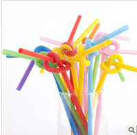 Wholesale 500pcs Multicolor Long Bendy Drinking Straws Home Bar Party Cocktail Drink Straw
