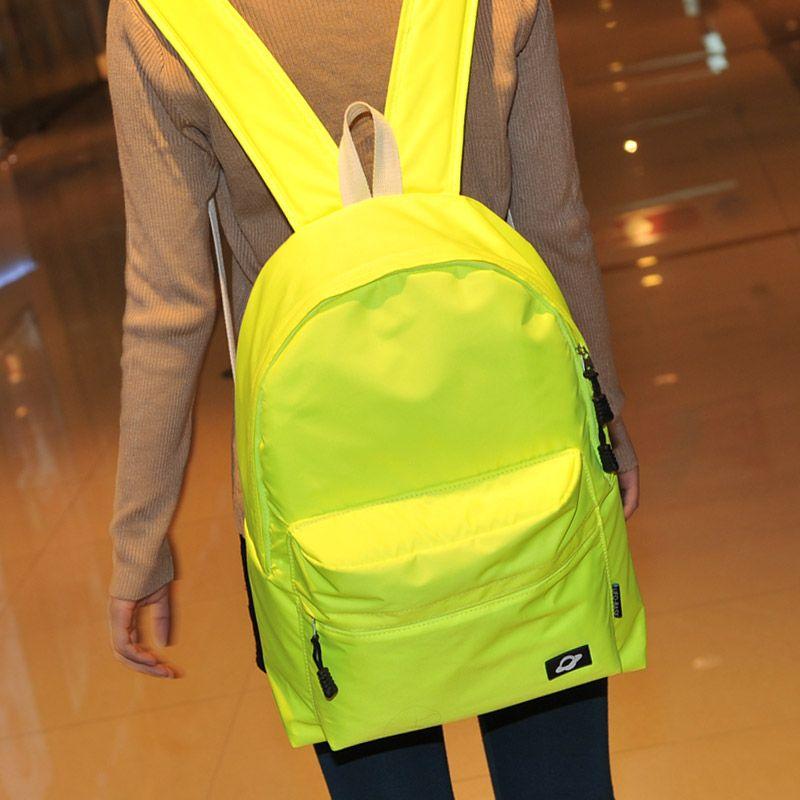 Neon color brief backpack school bag backpack casual bag backpack j238