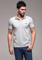Men Spandex Polo 2013 Hottest New Style Polo Summer Turndown Collar Top Grade Short Shirt Size M L XL XXL Shirt YY-01