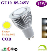 Wholesale 100pcs High Power GU10 W COB LED lighting led bulb Led light led lamp warm white white cool white