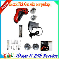 Wholesale 2014 by dhl ems fast shipping KLOM New Cordless Pick Gun locksmith tool rechargeable electric pick auto lock opener anson wu