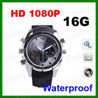 Wholesale Hotselling GB HD P Sport Watch Camera IR Night Vision Hidden DVR Watch Camera Waterproof