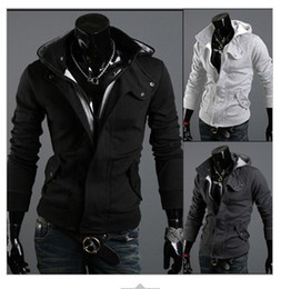 Wholesale Hot Sale Long Sleeve Brushed Napping With Hood Men s Hoodies Black Grey Cardigan Sweatshirt Promotion M L XL XXL XXXL Plus Size colors