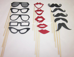 Wholesale UNIQUE Designs Funny Photo booth props lips moustaches glasses on sticks