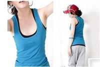 Wholesale Cotton Ribbed Racer Back Tank Top stretch women s tank Tops long design Multicolour women s vest
