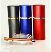 Wholesale Short pen folding reading glasses resin lenses lightweight carry
