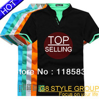 Men Polo Fashion Tee Free shipping hot selling2013 New Men's cotton T Shirt +Men's Short Sleeve T Shirt slim fit ,Polo sh