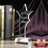 crystal glass award - Art Glass Medals Crystal Star Awards Crystal Gifts for Meetings or Sports JB011