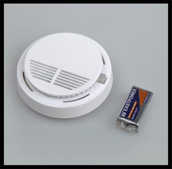 2017 White Home Kitchen Smoke Detector Security System Photoelectric Wireless Smoke Detector