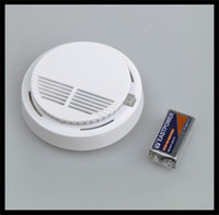 Cheap White Home Kitchen Smoke Detector Security System Photoelectric Wireless Smoke Detector Fire Alarm