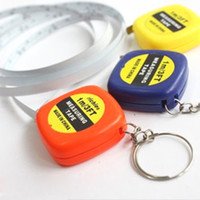 Wholesale Mini M Tape Measures Small Steel Ruler Portable Pulling Rulers With Key Chain Gauging Tools