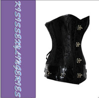 Wholesale Classic Qualitied N5273 S M L XL XXL Brocade Steampunk Sexy Corset with Clasp Fasteners