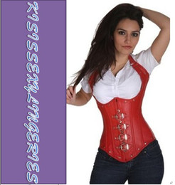 Wholesale Fast Delivery Classic N5144 S M L XL XXL Red UnderBust Gothic Faux Leather Sexy Corsets