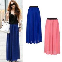 Wholesale Retro chiffon skirts black elastic waist short dress woman dress women skirt dress