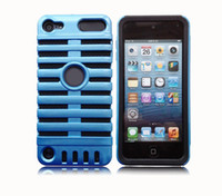 Wholesale Microphone Fishbone Case in Cover for Ipod Touch Layer Protection Hard Back Colorful Cover without package