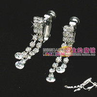 Wholesale noble whtie crystal wedding jewelry earrings