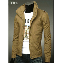 Wholesale 2013 influx of men new leisure Slim solid color collar washed denim jackets