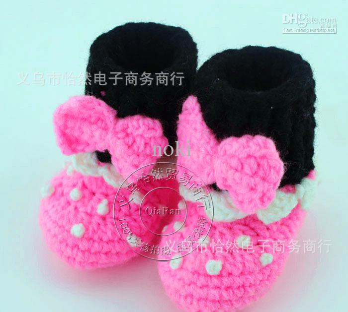 FLOWER BABY CLOTHES BOOTIES SHOES MARY JANE 0-12 MONTHS CROCHET Handmade Infant Baby Shoes Online with $4.61/Pair on Dianz's Store | DHgate.com