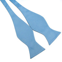 self tie bow ties - Biagio SELF TIE Bow Tie Solid Blue Color Men s BowTie