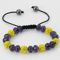 Wholesale Handmade bracelet mm the Shambhala ball crystal bracelet Hematite Bracelet can be customized bracelet jewelry