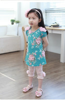 2013 Girls Kids Korean Summer Pants Beautiful Lace Stereo Fl...