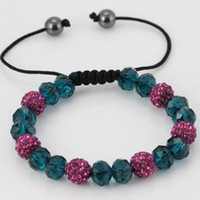 Wholesale Exquisite bracelets Shamballa crystal bracelet jewelry handmade Adjustable size LM SL004