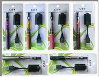 Wholesale Ego CE4 Ego K e Cigarette Blister Kits with mAh ego T battery cartomizer with ce4 Atomizing USB charger