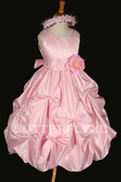 Wholesale New style Cheap Flower Girl Dresses amp dancing party wedding Flower Girl dresses