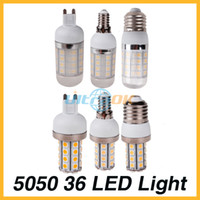 Wholesale G9 E27 E14 AC V W SMD LED Cool Warm White Corn Light Bulb without Cover