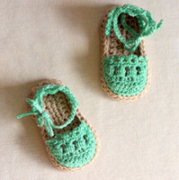 Wholesale Baby crochet shoes Baby girls Espadrille Sandals Crochet Pattern toddler handmade Slippers children knitted sandals Prewalkers