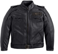 Wholesale VM Men s th Anniversary Leather Jacket